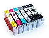 インクカートリッジ BCI- 351 XL / 350XLBK 6色セット キャノン(Canon)対応 純正互換 大容量 残量検知機能ICチップ付き