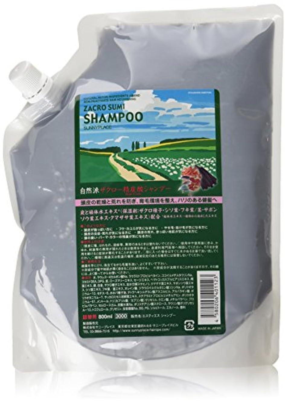 内陸花弁後方サニープレイス ザクロ精炭酸シャンプー 800ml 詰め替え用 2本セット