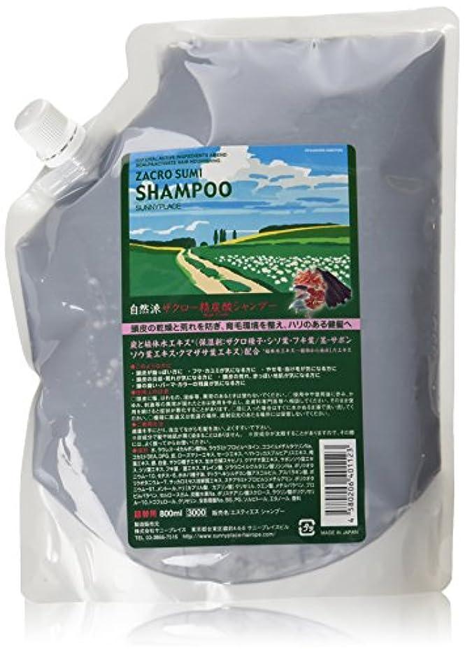 媒染剤十分なキウイサニープレイス ザクロ精炭酸シャンプー 800ml 詰め替え用 2本セット