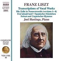 リスト:ピアノ作品全集 第44集 声楽曲トランスクリプション集