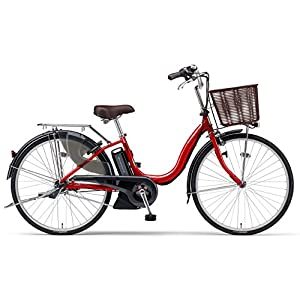 YAMAHA(ヤマハ) 電動アシスト自転車 2017年モデル PAS ナチュラM 26インチ リッチレッド 6.2Ahリチウムイオンバッテリー搭載 PA26NM