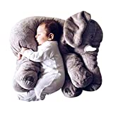 Favoridol ベビー 赤ちゃん プレゼント/イベント/お祝いおもちゃ ぬいぐるみ 知育 遊具 子供 アフリカゾウ 象 動物 抱き枕 ((33*40cmグレー)