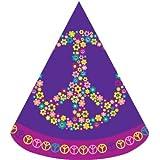 8-count子サイズ誕生日パーティー帽子、Groovy Girl