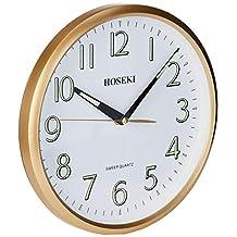 HOSEKI H-9202 Luminous Quartz Wall Clock