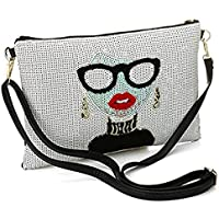 KNUS Evening Wristlet Handbag, Womens Large Designer Leather Oversized Clutch Bag Purse for Ladies