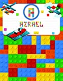 Azrael: Primary Composition Notebook Story Paper Journal Gifts with Personalized Initial Name &Monogram for Kids (Boys) Dashed  Midline / Dotted and Picture Space Writing Sheets for Grades K-2 &3 School Exercise Book (Block / Brick Games Design) (Azrael Primary Composition Notebook)