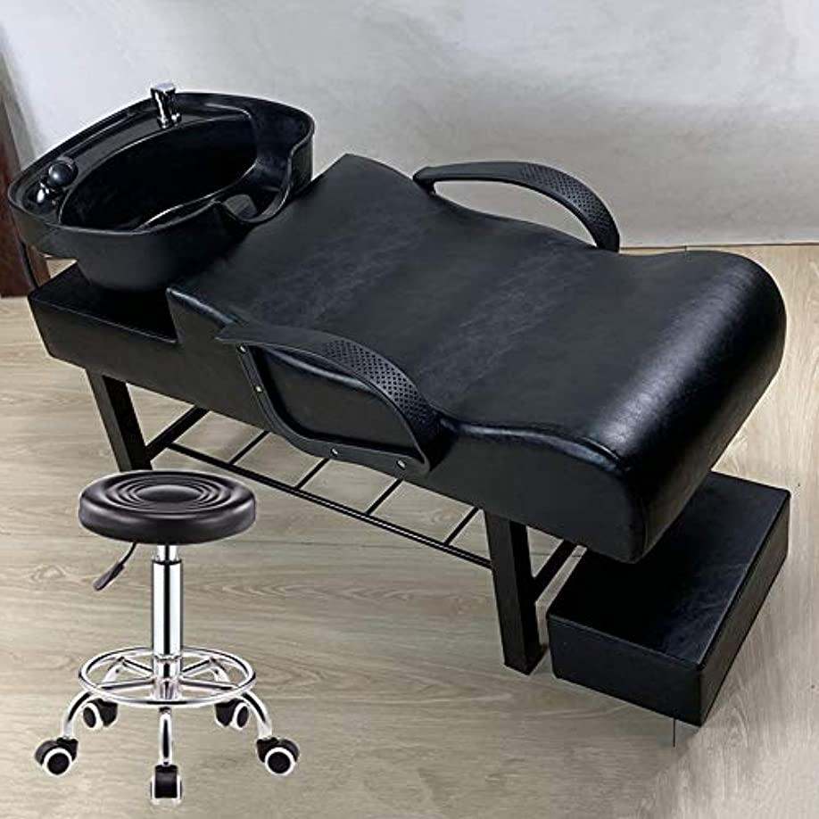 空港破滅的なトレイシャンプーの理髪師の逆洗の椅子、スパ美容院パンチベッドフラッシングベッド用シャンプーボウルシンクチェア
