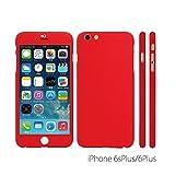 ZENDO NanoSkin ゼンドーナノスキン iPhone 6s Plus / 6 Plus(5.5インチ)アイフォンフルカバーケース レッド ※ 硬度9H 液晶保護ガラスフィルム1枚付き