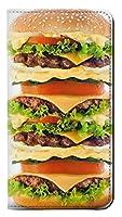 JPW07903EM ハンバーガー Hamburger Samsung Galaxy J3 Emerge, J3 Prime, J3 Eclipse フリップケース