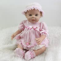 Lovely Cute Reborn Girl人形プリンセスシリコン赤ちゃんおもちゃ22インチLifelike人形withシリコン腕キッズ誕生日クリスマスギフト