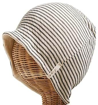 医療用帽子 タンドレ 黒 ボーダー オーガニック コットン ニット帽 ten01b