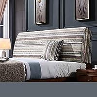 ベッド背もたれクッションベッドクッションベッドサイドピローベッドヘッドボードリネン付き大きな柔らかい枕の腰サポート、取り外し可能な6色無地8サイズ (色 : A1, サイズ さいず : 155 * 60CM)
