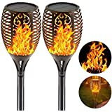 EZONEDEAL Solar Lights Outdoor Waterproof IP65,Dancing Flickering Flames Torches Lights,43 inch 96 LED,with Auto On/Off Dusk to Dawn,for Landscape Decoration Garden Driveway Holiday Decoration Lights