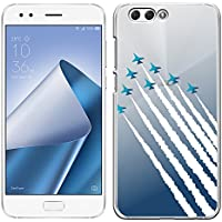 [Breeze-正規品] iPhone ・ スマホケース ポリカーボネイト [透明-あおぞら] ZenFone 4 ZE554KL ケース エイスース ゼンフォン4 ASUS ZenFone4 ケース カバー ハードケース カバースマホケース 液晶保護フィルム付 全機種対応 [ZEN4]