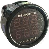 シガーソケット バッテリー電圧/室内温度モニター