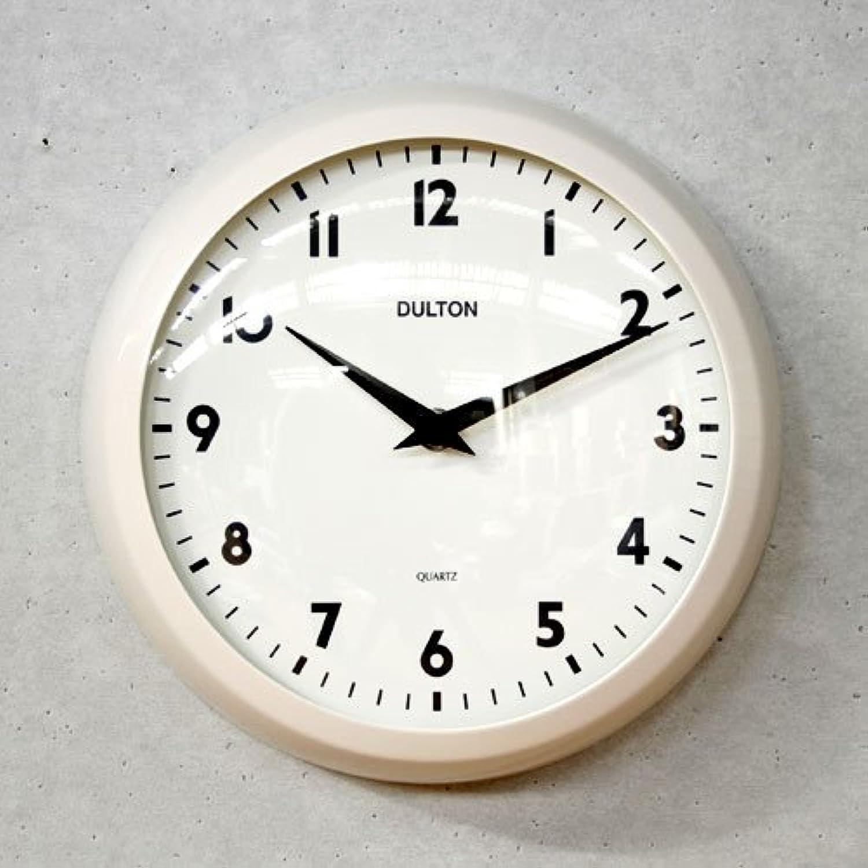 【DULTON】ダルトン ウォールクロック Model S52639(アイボリー)