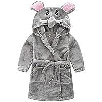 ZUND Boys & Girls Robe Bathrobe Warm Comfortable Hooded Bathrobe Cute Cartoon Animal Pajamas Soft Coral Fleece Sleepwear