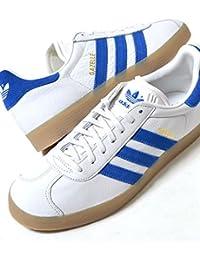 adidas GAZELLE アディダス ガッツレー ホワイト×ブルー メンズ スニーカー