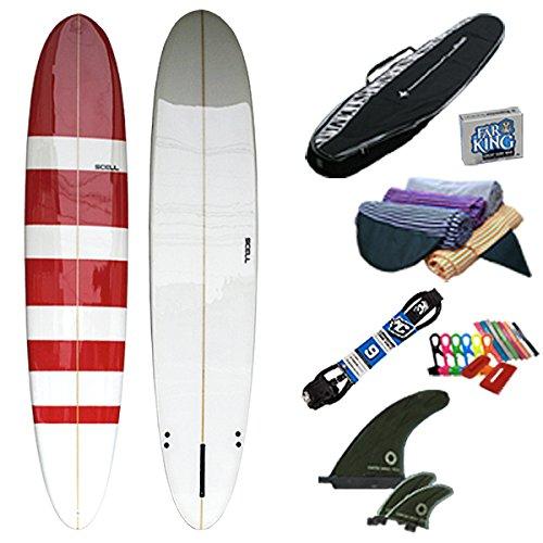 ロングボード9'0BD赤 初心者8点セット●サーフボード【SCELL】 サーフィン SET ステップアップモデル