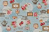 コスモテキスタイル ヴィンテージコラージュ 綿麻キャンバスプリント 約110cm巾×1mカット AP45304 col.2C