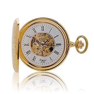 [ラポート]RAPPORT 懐中時計 機械式手巻き ダブルハンターケース スケルトン PW96 【正規輸入品】