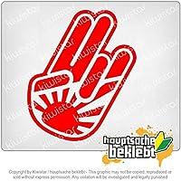 ビッグジャパンショッカー手 BIG Japan Shocker hand 16cm x 10cm 15色 - ネオン+クロム! ステッカービニールオートバイ