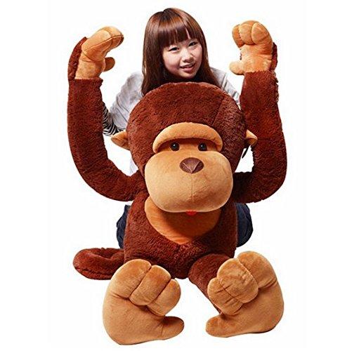 HYAKURI 猿 ぬいぐるみ 特大 さる/サル 2色 110cm 巨大/大きい 抱き枕/イベント/お祝い贈り物/誕生日プレゼント (110cm)