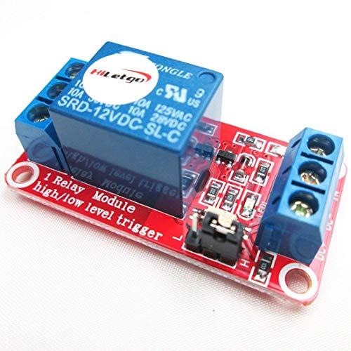 HiLetgo 2個セット 12V 1チャンネル リレー モジュール サポート高低レベルのトリガー [並行輸入品]