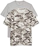 Amazon Essentials (アマゾン エッセンシャルズ) メンズ Tシャツ S17AE45000, グレーカモ/グレーヘザー, L〈日本サイズL-XL相当〉