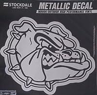 """Gonzaga Bulldogs Zags 6"""" Mediumシルバーメタリックビニールオートデカール大学の"""