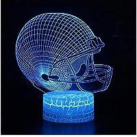 Xbwy 7色のギフト3Dランプの接触スイッチLed夜ライト