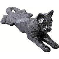 ABC」製品「 – (ペットLoversドア停止) – プリミティブHeavy Cast Iron – ドアウェッジ – 3d Shaped Cat – Ideal For Anyドア – (素朴なサテンブラック仕上げ – パターンHanded Down Through the Years)