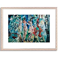 ロベール・ドローネー「La Ville de Paris. 1910-12 」 インテリア アート 絵画 プリント 額装作品 フレーム:装飾(銀) サイズ:S (221mm X 272mm)