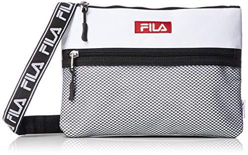 [フィラ] FILA フィラ ロゴテープサコッシュ FM2097 ロゴ 刺繍 ロゴテープ サコッシュ ホワイト