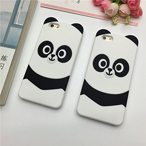 GuoDuo iPhone 専用 ケース カバー アイフォン7プラス専用ケース おもしろ かわいい パンダ 3D シリコン 保護ケース 動物 キャラクター ソフトケース iPhone 7 plus iPhone 6s plus (iPhone7)