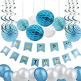 Perfeclan 誕生日 パーティー装飾 バナー ペーパーファン ハニカムボール ラテックスバルーン 子供おもちゃ