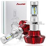 Autofeel h4 led ヘッドライトライトバルブ 車検対応 9003 6500k 25W 4000LM 超輝度 2本セット (H4)