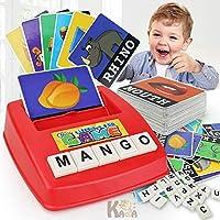 XuBa おもちゃ 文字アルファベットゲーム 英語フラッシュカード ラーニングマシン キッズ教育ワードカードおもちゃ