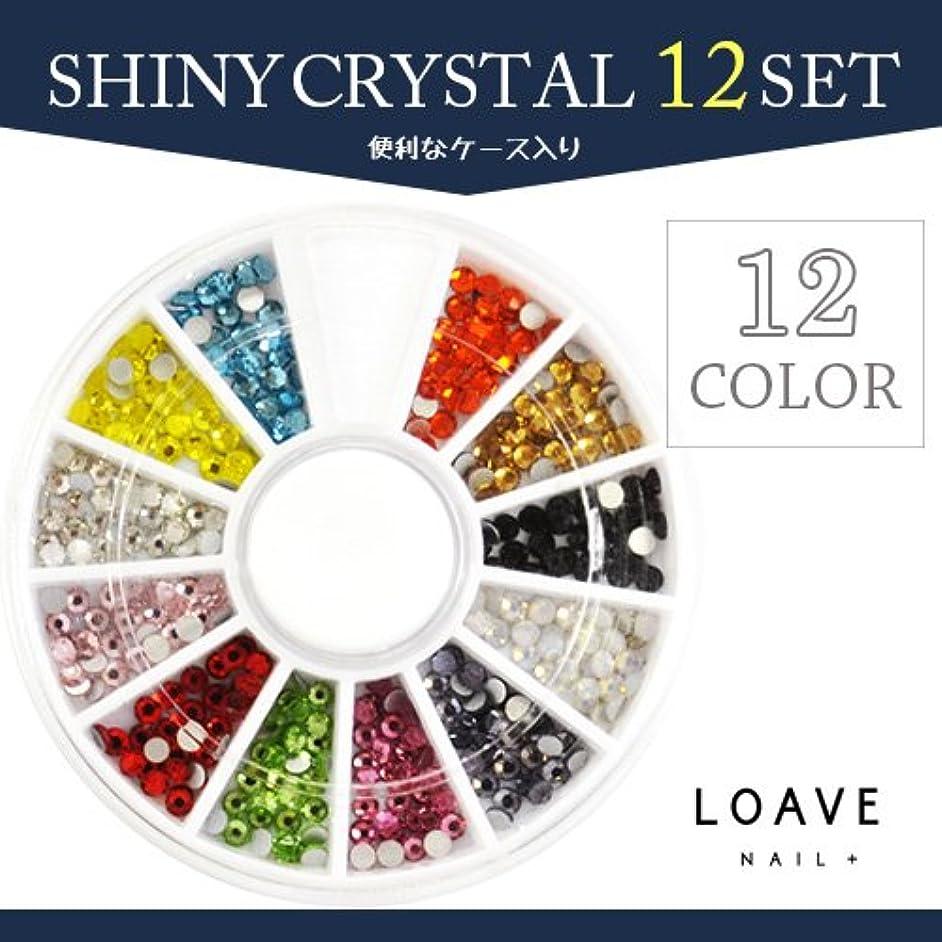 億保護ヘビシャイニークリスタル ガラスラインストーン12色セット ss8 ネイルストーン
