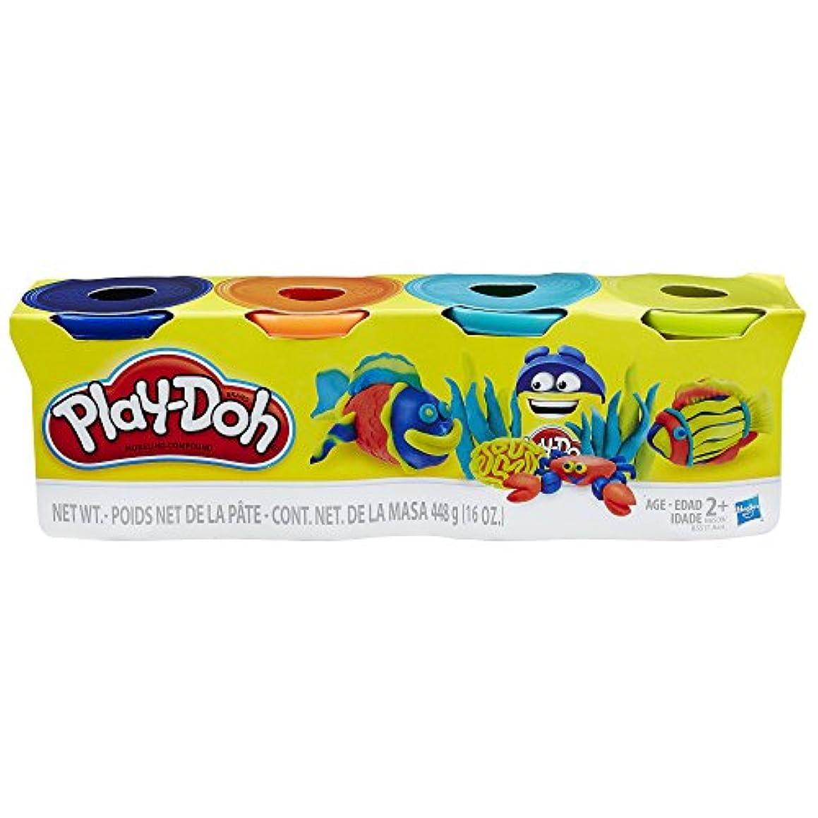 隠結晶白雪姫Hasbro Play-Doh B6509ES0 4個パック ダークブルー オレンジ ネオンブルー ネオングリーン