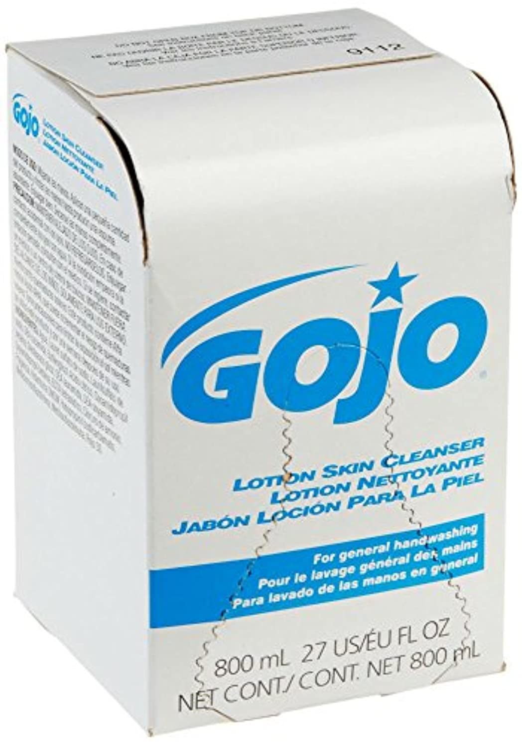 通知する雪だるま成長するGOJO INDUSTRIES 9112-12 800ml Bag-In-Box Lotion Hand Soap Skin Cleanser by Gojo