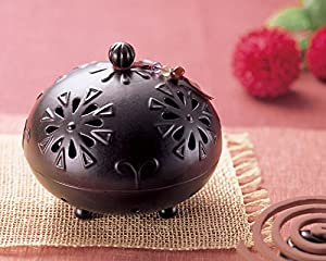 陶器で アジアンが かわいい 蚊遣り クレマチス 3001011-00