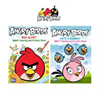 Angry Birds Giant Coloring & Activity Book 2 - Pack ( Red Alert & Cute and Bubbly )