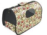 ペット キャリー バッグ おりたたみ 式 犬 猫 動物 お出かけ 旅行 搬送 持ち運び 用 (5. フクロウ柄 Mサイズ)