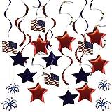 Perfk 米国旗 アメリカフラグ バナー 花輪  吊り下げ 屋内屋外 装飾  庭の装飾 約30枚