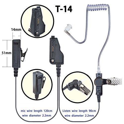 透明アコースティックチューブ付2ピースイヤホンマイク適合機種Kenwood TCP-D143 TCP-D243 TCP-D343 TCP-D201 TCP-D203 TPZ-D503 無線機