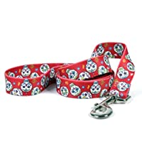 Yellow Dog Design Sugar Skulls Lead 3/4-Inch by 60-Inch, Red by Yellow Dog Design