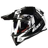 オフロード バイクヘルメット ヘルメット バイク用 バージョン ダブルシールド PSC付き  YHZ-98[商品04/XL]