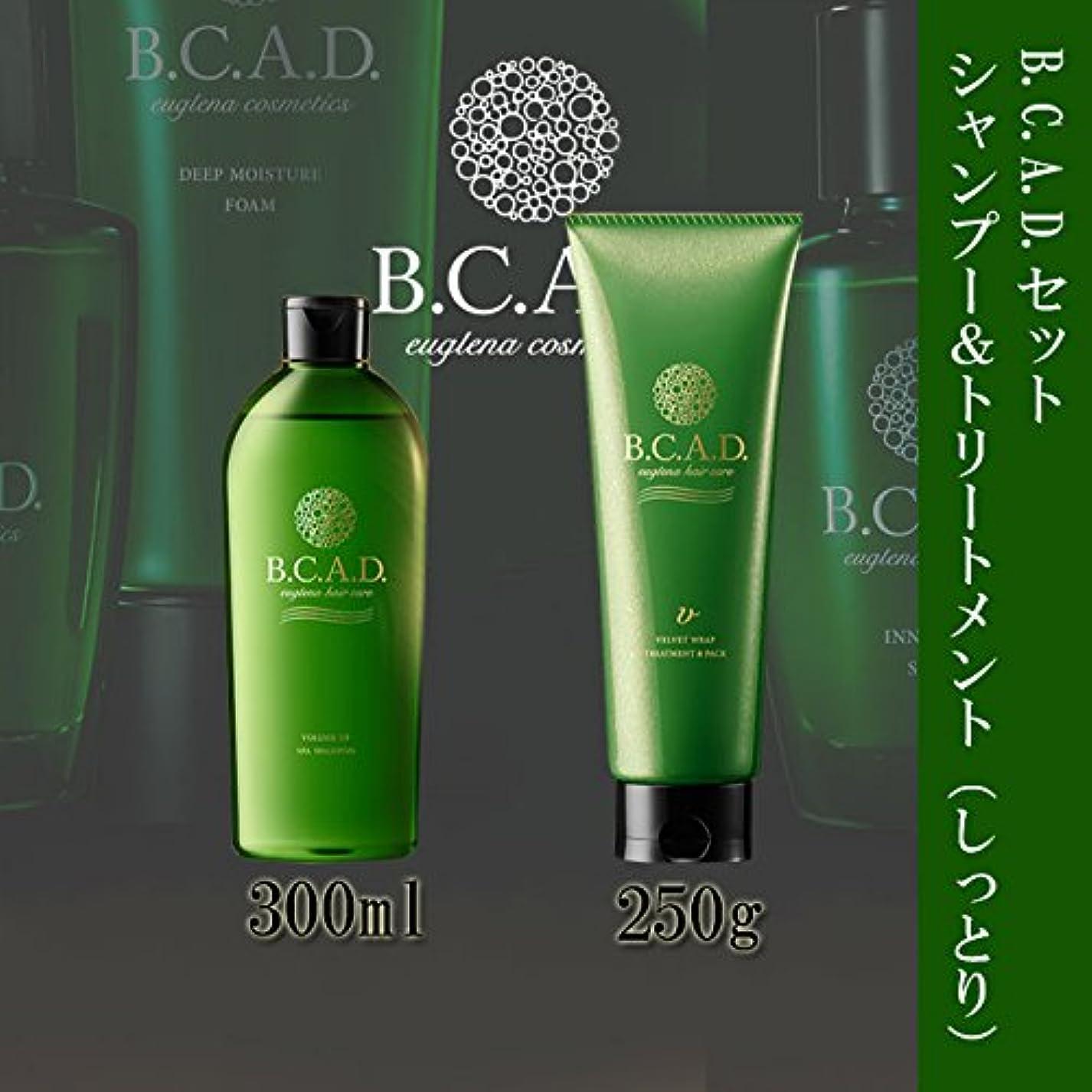 バッグ上へ入浴B.C.A.D. ボリュームアップスパシャンプー300ml + ベルベットラップトリートメント&パック250g(しっとり仕上げ トリートメント)