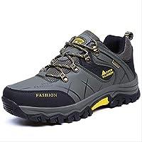 メンズシューズ、屋外運動スニーカー、人工PUランニングシューズ、春秋防水クライミングシューズ、快適な通気性運動靴 (色 : B, サイズ : 47)